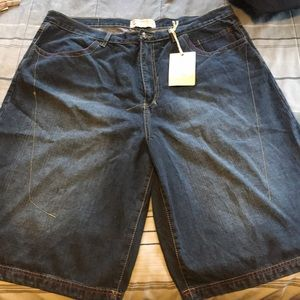 Men's brand new with tag denim long shorts